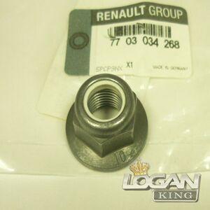 Гайка М10 амортизатора верхняя Renault оригинал (Франция), аналог 7703034268, для Рено Логан / Сандеро