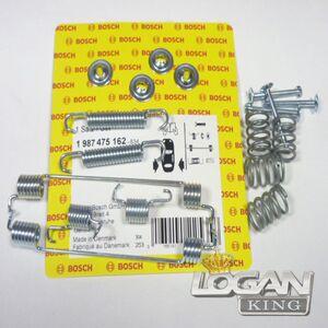 Монтажный комплект задних тормозных колодок (D180mm) на 2 колеса (система тормозов BOSCH) Bosch (Германия), аналог 6001551411, для Рено Логан / Сандеро