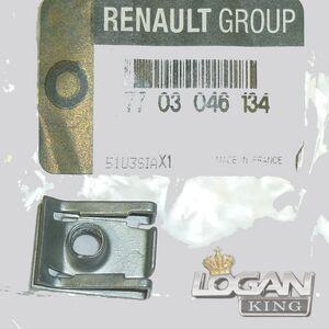 Скоба под саморез крыла Renault оригинал (Франция), аналог 7703046134, для Рено Логан / Сандеро