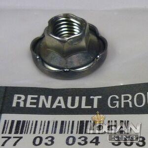 Гайка коллектора Renault оригинал (Франция), аналог 7703034303, для Рено Логан / Сандеро