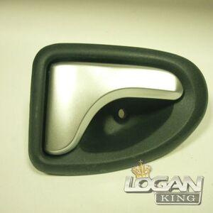 Ручка внутрисалонная правая фаза 1 серебристая Logem (Тайвань), аналог 7700830079, для Рено Логан / Сандеро