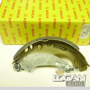 Колодки тормозные задние малые (180 мм), комплект (4шт.) Lynx (Япония), аналог 7701205758, для Рено Логан / Сандеро