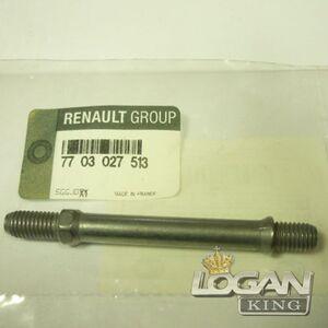 Шпилька М8 приемной трубы 8V Renault оригинал (Франция), аналог 7703027513, для Рено Логан / Сандеро