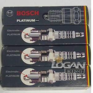 Свечи зажигания Bosch 2-x электродные к-т Bosch (Германия), аналог 7700500168, для Рено Логан / Сандеро