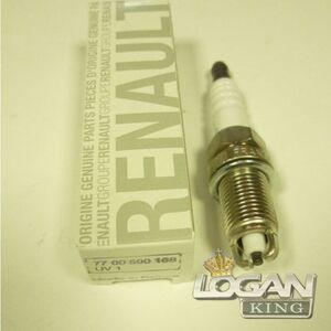 Свечи зажигания 2-х электродные к-т Renault оригинал (Франция), аналог 7700500168, для Рено Логан / Сандеро