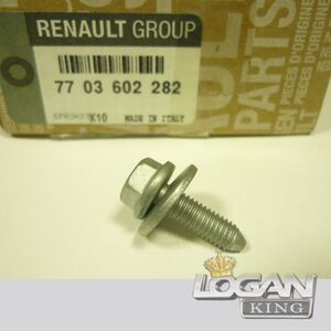 Саморез крыла Renault оригинал (Франция), аналог 7703602282, для Рено Логан / Сандеро