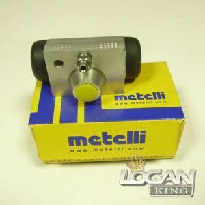 Цилиндр тормозной задний (силумин, одно отверстие крепления) Metelli (Италия), аналог 7701047838, для Рено Логан / Сандеро