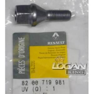 Болт колёсный (стальной диск) *19 Renault оригинал (Франция), аналог 8200719981, для Рено Логан / Сандеро