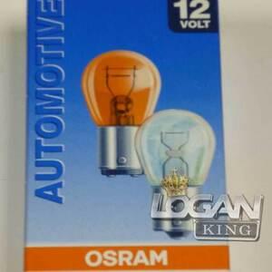 Лампа одноконтактная желтая 12V PY21W Osram (Германия), для Рено Логан / Сандеро