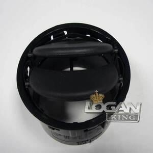 Дефлектор вентиляции с ободком (черный) Renault оригинал (Франция), аналог 687606360R, для Рено Логан / Сандеро