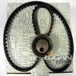 Комплект ГРМ (ремень+ролик) до 2010 года Renault оригинал (Франция), аналог 7701477024, для Рено Логан / Сандеро